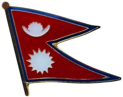 Wholesale Pack Of 12 Nepal Country Flag Bike Hat Cap Lapel Pin  • 15.76£