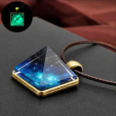 AU8.79 • Buy For Women Fashion Starry Sky Jewelry For Men Crystal Luminous Necklace Pendant