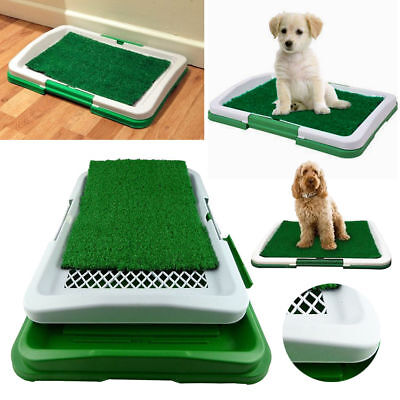 £11 • Buy Puppy Potty Training Pad Mat Pet Toilet Trainer Set Dog Litter Tray Indoor House