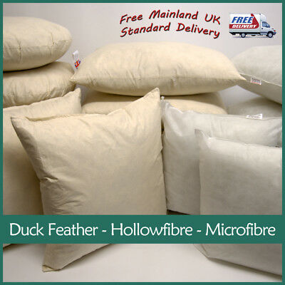 Polyester, Microfibre, Duck Feather Cushion Pads Inner Inserts  Fillers Scatters • 12.99£