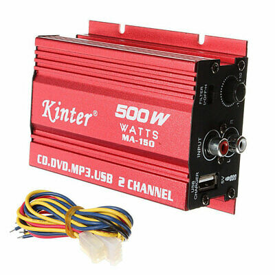 $15.99 • Buy Kinter MA150 RMS 500W Car Motorcycle 2CH 2 Channel Audio AMP Amplifier Subwoofer