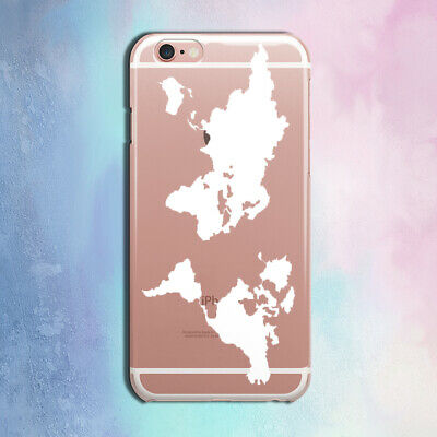 £11.32 • Buy Case For IPhone 11 X XS Max XR Silicone Cover IPhone 5 SE 6S 7 8 Plus World Map