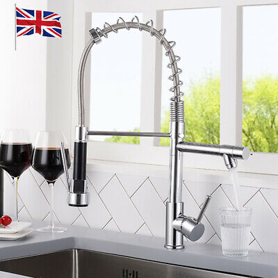 £26.99 • Buy 360° Swivel Pull Out Taps Spray Mixer Kitchen Sink Mixing Tap Spring Neck Chrome