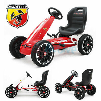 £119.99 • Buy Licensed Abarth Kids Ride On Racing Pedal Go Kart Rubber Tyres Adjustable Seat