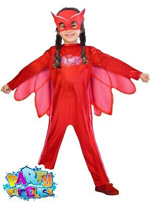 PJ Masks Child Owlette Costume Girls Boys Superhero Fancy Dress Outfit Kids • 13.49£