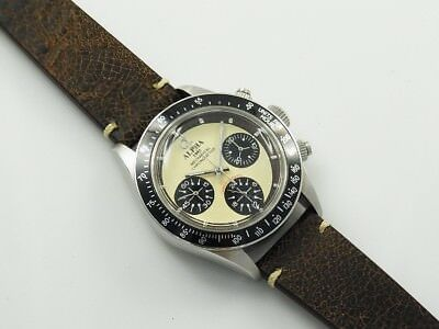 $ CDN237.86 • Buy Alpha Daytona Paul Newman Panda Dial Chronograph Watch With Vintage Look Band