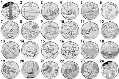 50p Coin Hunt 50 Pence London Olympics .  Beatrix Potter Coin • 1.80£