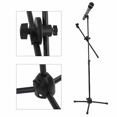 £17.79 • Buy Adjustable Microphone Stand Boom Arm Holders  Mic Clip Stage Studio Party Tripod
