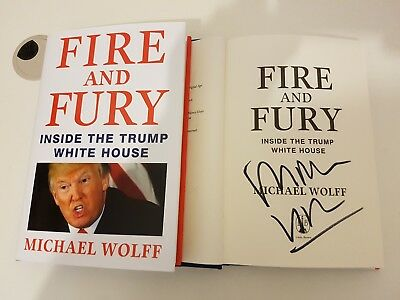 AU185.43 • Buy Fire And Fury Inside The Trump White House Hardcover Michael Wolff Hand Signed