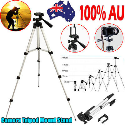 AU14.21 • Buy Universal Telescopic Camera Tripod Stand Holder Mount For Phone IPhone Nikon DV