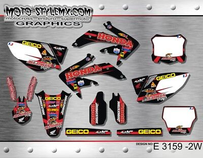 $147.26 • Buy Honda CRf 450R 2005 Up To 2008 Graphics Decals Kit  Moto-StyleMX