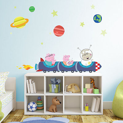Peppa Pig Rocket Train Wall Stickers Pack | Official Peppa Pig Wall Stickers • 10£