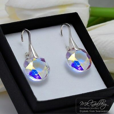 £15.99 • Buy 925 Silver Earrings Crystals From Swarovski® Classic Cut - Crystal Ab