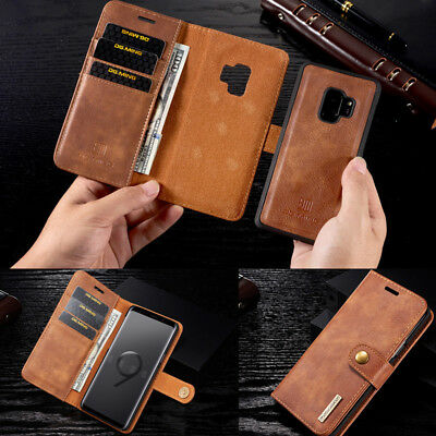 $ CDN12.63 • Buy Leather Stand Wallet Magnetic Detachable Card Slot Flip Cover Case For Samsung