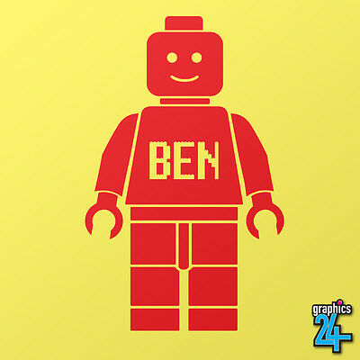 Personalised Custom Children's Lego Man Vinyl Wall Art Graphic Sticker Decal • 12.99£