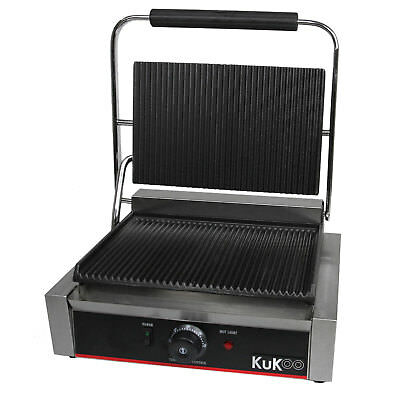 £179.99 • Buy Panini Press Grill Sandwich Toaster Waffle Maker Commercial Iron Toastie Ribbed