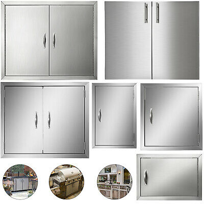 New 31  Outdoor Kitchen / BBQ Island Stainless Steel Double Access Door USA • 54.97$
