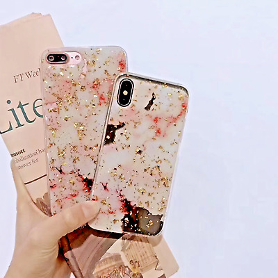 AU6.99 • Buy OPPO A73 R17 Rro 9s 11s A59 F1s Marble Pattern Sparkle Chips Soft Slim Gel Case