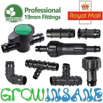 Antelco 19mm ID Large Pipe Fitting Barbed Garden Watering Irrigation Connector • 3.69£