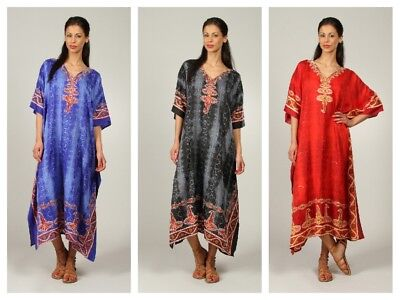 £11.99 • Buy  Free Size Plus Size Kaftan Holiday Dress Beach Cover Up Fits 16,18,20,22,24