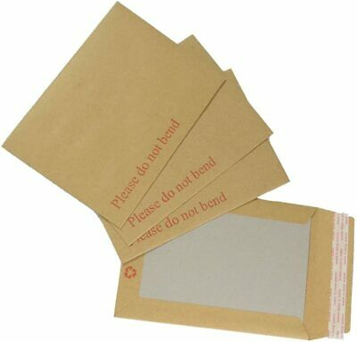 £9.45 • Buy    Please Do Not Bend   Hard Card Backed Brown Manilla Envelopes Rigid