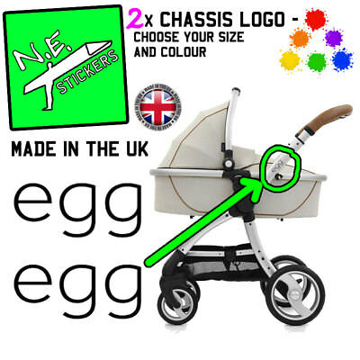£1.35 • Buy REPLACEMENT Egg Pram Logos Vinyl Stickers Buggy Pushchair Stroller Decal Upcycle
