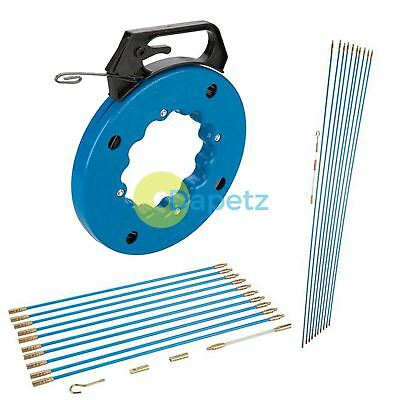 10X 1m Cable Access Kit Installation Electricians Pull Rods Wire Fish Tape