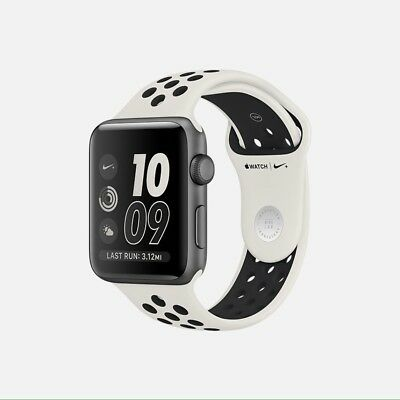 $ CDN844.58 • Buy NikeLab Nike+ Apple Watch Series 2 38mm Aluminum Light Bone/Black NIB Sealed