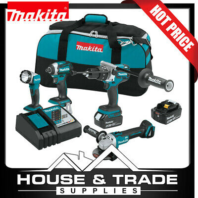 AU899 • Buy Makita Brushless Cordless 4 Tools 5.0Ah 18v Li-Ion Combo Kit XT451T