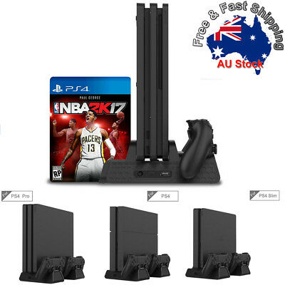 AU32.99 • Buy Vertical Cooling Fan Stand With Gamepad Charging Station For PS4/Slim/PS4 Pro  C