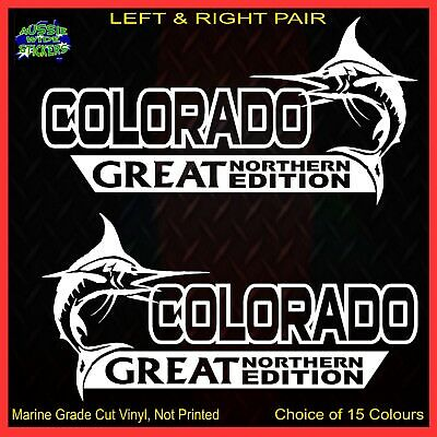 AU12.90 • Buy COLORADO Stickers Accessories Ute Car MX Funny Decal GREAT NORTHERN 200mm PAIR