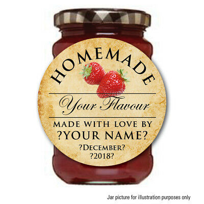 Personalised Jam Pot Lid Jar Label Sticker Homemade Preserves Conserve Chutney17 • 2.74£