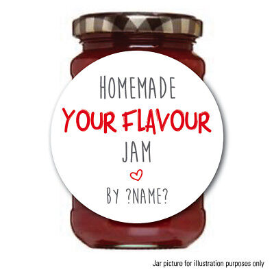 Personalised Jam Pot Lid Jar Label Sticker Home Made Preserves Chutney 176 • 2.55£
