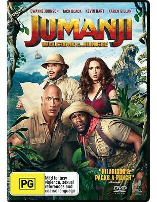 AU10.76 • Buy Jumanji Welcome To The Jungle DVD Region 4 NEW