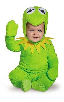 Licensed Kermit The Frog Muppets Toddler Boys Fancy Dress Halloween Costume • 24.04£