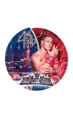 Licensed Wwe John Cena Wrestling Birthday Party Dinner Plates Decorations • 6.92£