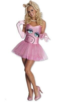 Licensed Miss Piggy The Muppets Adult Womens Fancy Dress Halloween Tutu Costume • 31.67£