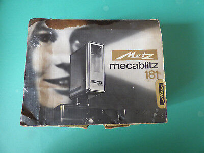 Vintage Mecablitz 181 Camera Flash Boxed New Old Stock Tested!! • 28.61£