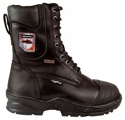 Cofra Energy Black Lace Up Safety Work Gore-Tex Leather Chainsaw Class 3 Boots • 125.59£