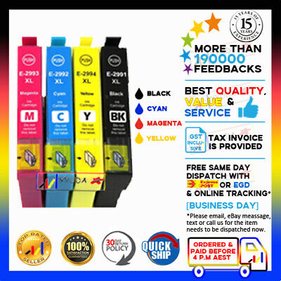 AU8.60 • Buy 4x YYUDA NON-OEM 29 XL 29XL Ink Cartridges For Epson XP-235 XP-432 XP-245 XP-442