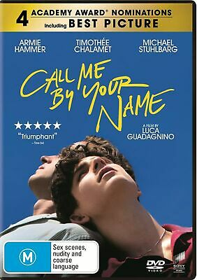 AU10.52 • Buy Call Me By Your Name DVD Region 4 NEW