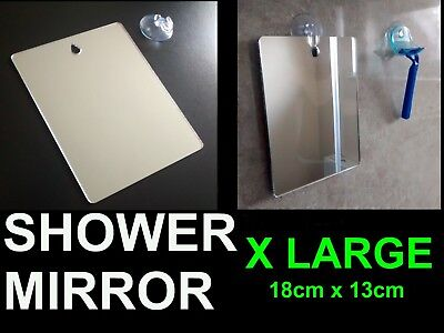£8.99 • Buy X LARGE Shower Shaving Mirror,Strong Safe Shatter Proof,Travel.Camping FREE Hook