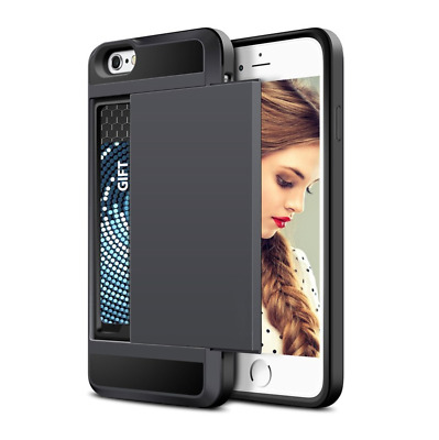 AU19.95 • Buy Card Slider Case For IPhone Smartphones - Card Holder Cover Case