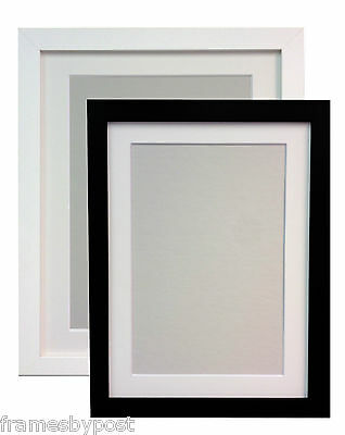 £11.28 • Buy Large Photo Picture Frames White Or Black With White Black Or Ivory Mounts H7