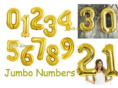 AU3.65 • Buy Gold Foil Numbers Balloons Helium Quality Jumbo Giant Number Balloon 21st 18th