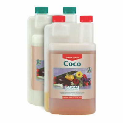 Canna A+B Coco 1 Litre Veg And Flower Plant Food Base Nutrients Hydroponics UK • 18.99£