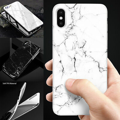 AU8.82 • Buy IPhone XS Max XR X 8 7 6S Plus Case Marble Pattern TPU Flexible Cover Shockproof