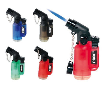 £3.25 • Buy PROF ANGLED JET FLAME LIGHTER Pipe Lighter Windproof Turbo Flame Refillable Neck