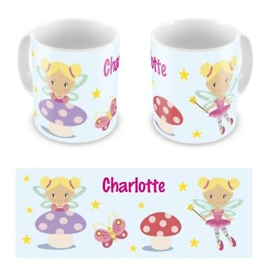 Personalised Childrens Kids Mugs Cup Fairies Fairy Any Name Gift Box • 10.99£