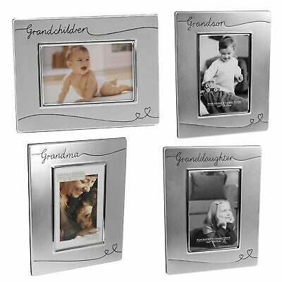 £12.29 • Buy Silver Plated Satin Finish Photo Frame With Hearts - Choose Design